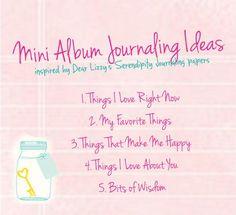 Mini Album Journaling Ideas   writeclickscrapbook