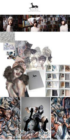 Fashion Portfolio - fashion illustrations & printed textiles development; fashion sketchbook // Helen Sales