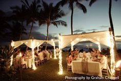 Tents   White Orchid Wedding - Hawaii wedding planners