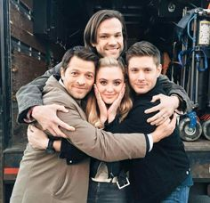 Jared's big enough to hug three people at the same time. --- This makes me very happy. :D