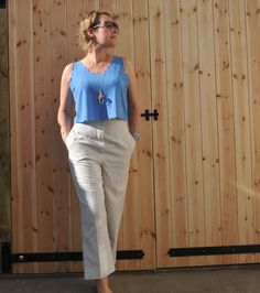 Vogue V8911 Hand Sewn Cream Trousers