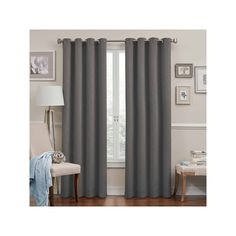 eclipse Round & Round Thermaweave Blackout Curtain, Grey