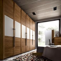 Bedroom Design: 59 ideas wardrobe wood finish and glass panels Wooden Wardrobe, Wardrobe Design Bedroom, Wardrobe Furniture, Bedroom Furniture Design, Bedroom Wardrobe, Bedroom Ideas, White Wardrobe, Wardrobe Laminate Design, Wardrobe Door Designs
