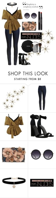 """Statement maker"" by lexie26x ❤ liked on Polyvore featuring Global Views, Barbour, Acler, Kendall + Kylie, Sondra Roberts, Alice + Olivia, Betsey Johnson, Charlotte Russe and Chanel"