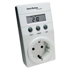 Technoline Cost Control  calcolatore di consumo elettrico, colore: Bianco