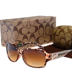 Coach leopard signature sunglasses
