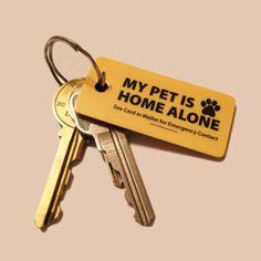 Emergency Pet Keyring Tag