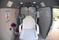 Interior mobile beauty van example www.salononwheels.co.uk