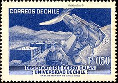 """Observatory """"Cerro Calan"""" University of Chile Chile, Argentine, Postage Stamps, South America, My Favorite Things, Postcards, Stamping, University, Vintage"""