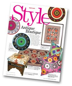 Inspired by antique embroidered tribal textiles, Suzani designs of both new and vintage variety cut a spice-laden swath through Middle Asian culture.