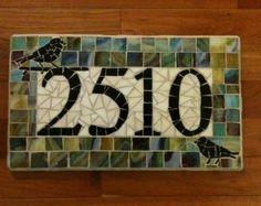 Address Plaque; Mosaic Address Plaque; Address Numbers