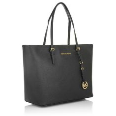 MICHAEL Michael Kors Jet Set Travel Tote Black Shopper Designer Taschen bei Fashionette