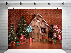 This HD wallpaper is about brown wooden house Christmas house decor, decoration, room, toys, Original wallpaper dimensions is file size is Christmas Tree With Gifts, Christmas Decorations For The Home, Cheap Christmas, Christmas Photos, Holiday Decor, Christmas Trees, Merry Christmas, Christmas Backdrops For Photography, Background For Photography