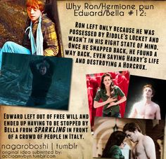 Why Ron and Hermione are so much better than Edward and Bella