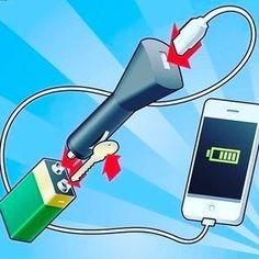 How to change your phone battery with just a 9volt battery and a car charger. #diy #diyproject #survivalist #survivaltips #survivaltools #survivalguide #tip #tips #diyhacks #themoreyouknow #phonecharger #lowbattery #outdoors