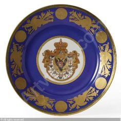 IMPERIAL PORCELAIN MANUFACTURE (Russia) - DINNER PLATE  (Russia)  Title : DINNER PLATE  Date : ca 1826      Category : Ceramics  Medium :  : Porcelain, heightened with polychromatic enamels