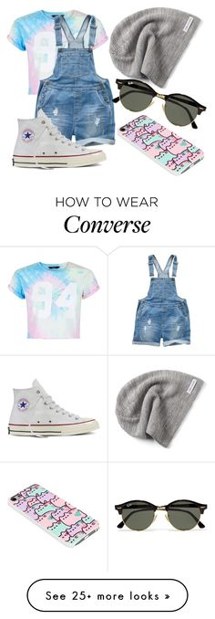 """""""Untitled #719"""" by mriss-abbrie on Polyvore featuring New Look, Fat Face, Converse, Pusheen and Ray-Ban"""