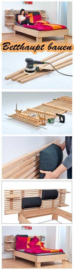 Diy Furniture: Dieses Betthaupt sieht nicht nur super aus, sonder...