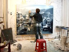 artist painting in studio - Google Search