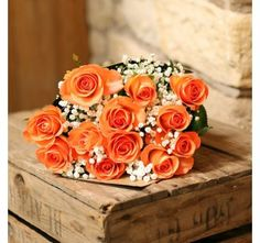 Bright Orange Roses Bouquet Rose Send Birthday Gifts Online