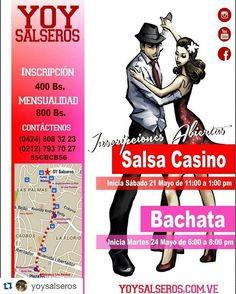 #Repost @yoysalseros NUEVOS CURSOS  Salsa Casino (Principiantes) Sab. 21 de Mayo a las 11 am.  Bachata (Principiantes) Martes 24 de Mayo a las 6 pm.  Metrobus ruta 314 #avlaspalmas #plazavenezuela #caracas #venezuela #yoysalseros #casineras #salseros #salseras #casineros #salsacasino #baile #ccsbaila #casinerosdevenezuela #salserosdecorazon#salsacasinovenezuela #venezuelabailaasi #ccsbaila #salsacasinovzla #pasalabien #comparte #correlavoz