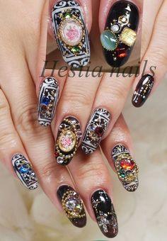 Such Complex Nail Designs Nails Pinterest