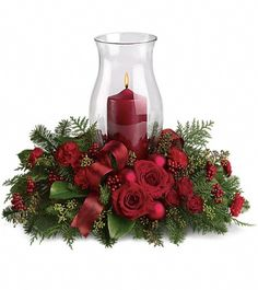 Send Holiday Glow Centerpiece in Alexandria, VA from The Virginia Florist, the best florist in Alexandria. All flowers are hand delivered and same day delivery may be available.