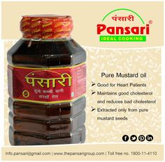 Pansari's Pure Mustard Oil: The Taste of India! #oil #mustard #pansari #pure #healthy