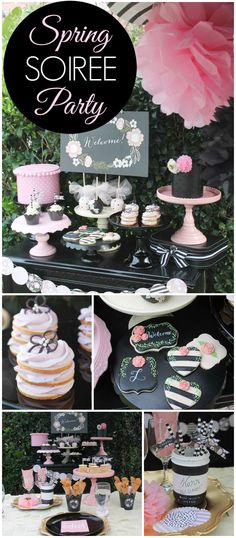 You have to see this stunning spring soiree! So many amazing details! See more party planning ideas at CatchMyParty.com!