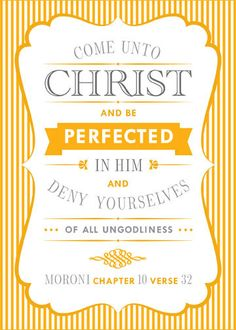 Come Unto Christ and Be Perfected in Him (2014 LDS Mutual Theme) - Set of eight 5x7 printable art files in YW value colors