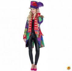 Damen Karneval Patchwork Frack, bunt kaufen