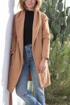 camel robe coat