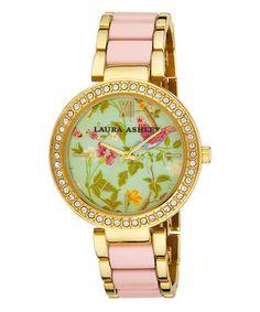 Another great find on #zulily! Pink & Gold Summer Duck Egg Bracelet Watch #zulilyfinds