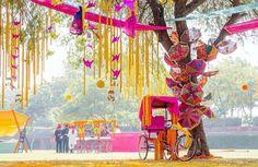 Outdoor wedding idea # Indian weddings # sangeet                              …