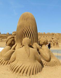Sandsculpture festival Søndervig, Denmark, 2013 -The Wild West
