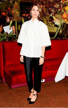 Cartier's New York luncheon saw Sofia Coppola stick to her failsafe tailoring