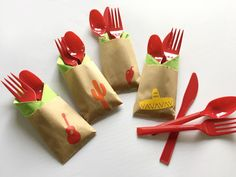 Cutlery Bags  Fiesta Party  Cinco De Mayo  fiesta by SteshaParty