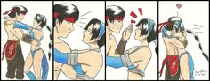 Kitana and Liu Kang. They are just Romeo and Juliet of Mortal Kombat. The Princess and her Warrior Mortal Kombat Legacy, Mortal Kombat Memes, Mortal Kombat 3, Liu Kang And Kitana, New Challenger, Transformers Art, Art Forms, Pop Culture, Geek Stuff
