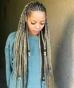 Blonde Ghana braids with beads and cornrows # fulani Braids with beads 17 Greatest Ghana Braids and Hairdos for 2019 Black Girl Braids, Braids For Black Hair, Girls Braids, Box Braids Hairstyles, African Hairstyles, Hairdos, Female Hairstyles, Braid Hair, Ghana Braids