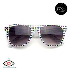 10cc996b69 Classic horned rim sunglasses frame that feature cool fun color sunglasses.  Retro sunglasses feature fun and cool printed graphics.