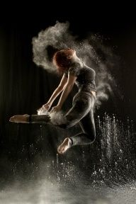 Powder Dance - Inspiring Levitation Photos by Geraldine Lamanna via Huffington Post