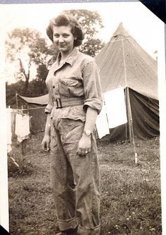 WWII US Army Nurse Joy Lillie in Field Hospital Uniform | History Grand Rapids