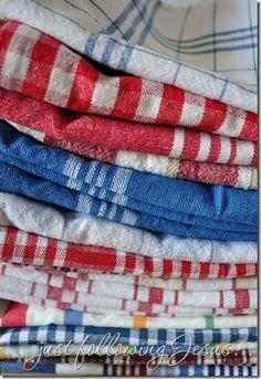 dish towels.