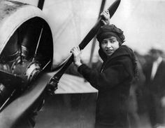 Katherine Stinson learned to fly at 16 and was the first woman to deliver air mail. Photo: 1915.