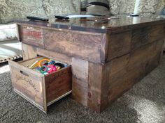Painted Crate Coffee Table Coffee Tables Pinterest Discover