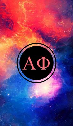 Alpha Phi galaxy iPhone monogram background!