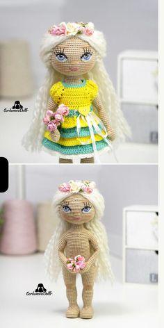 Crochet Doll Pattern, Crochet Toys Patterns, Amigurumi Patterns, Stuffed Toys Patterns, Handmade Dolls Patterns, Handmade Toys, Doll Patterns, Beginner Crochet Tutorial, Doll Tutorial