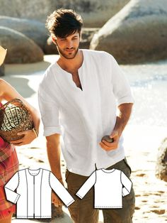 Burda style Men's Linen Shirt 06/2011 #138