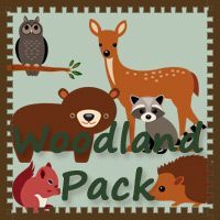 Free Woodland Pack by 3Dinosaurs.com. These Woodland printables are to be used with children from 2 to 7.