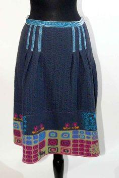 IVKO Wool Jacquard Structure Skirt,XL (42)